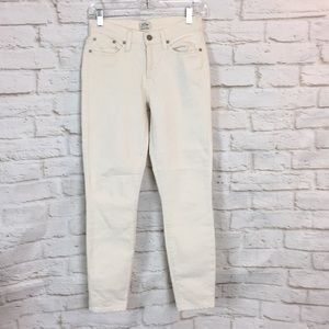 J. Crew Off White Ivory Toothpick Jeans Size 26